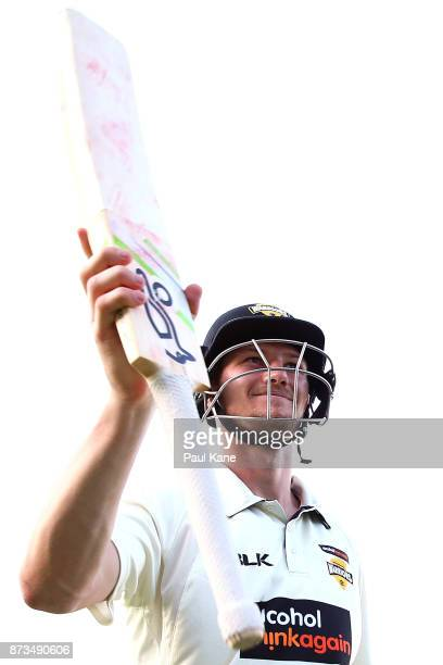 Cameron Bancroft of Western Australia walks from the field at stumps during day one of the Sheffield Shield match between Western Australia and South...