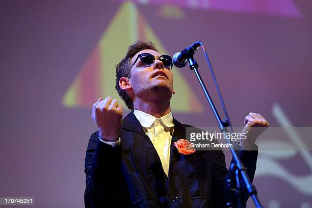 Cameron Bird of Architecture In Helsinki performs during the 2013 APRA Music Awards at The Plenary on June 17 2013 in Melbourne Australia