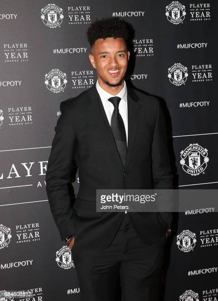 Cameron BorthwickJackson of Manchester United arrives at the club's annual Player of the Year awards at Old Trafford on May 18 2017 in Manchester...