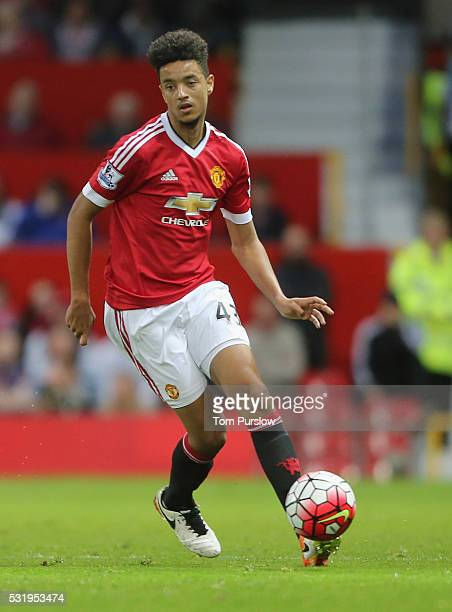 Cameron Borthwick-Jackson of Manchester United in action during the Barclays Premier League match between Manchester United and AFC Bournemouth at...