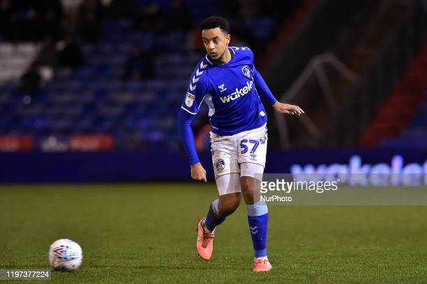 Cameron Borthwick-Jackson of Oldham Athletic during the Sky Bet League 2 match between Oldham Athletic and Mansfield Town at Boundary Park, Oldham on...