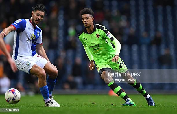 Cameron BorthwickJackson of Wolverhampton Wanderers during the Sky Bet Championship match between Blackburn Rovers and Wolverhampton Wanderers at...
