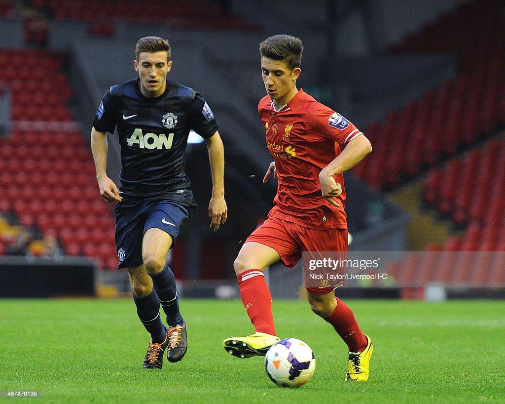 Liverpool v Manchester United - Barclays U21 Premier League Semi Final : News Photo