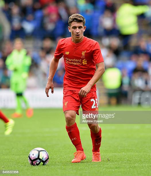 Cameron Brannagan of Liverpool during a PreSeason Friendly match between Tranmere Rovers and Liverpool at Prenton Park on July 8 2016 in Birkenhead...