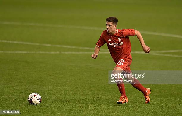 Cameron Brannagan of Liverpool during the Capital One Cup Fourth Round match between Liverpool and AFC Bournemouth at Anfield on October 28 2015 in...