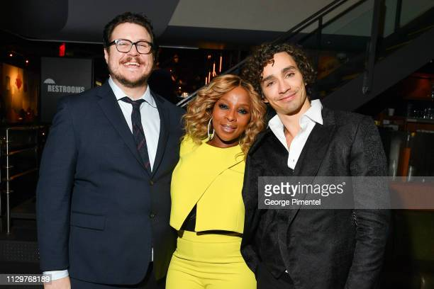 Cameron Britton Mary J Blige and Robert Sheehan attend the after party of Netflix's 'The Umbrella Academy' at The Drake Hotel on February 14 2019 in...