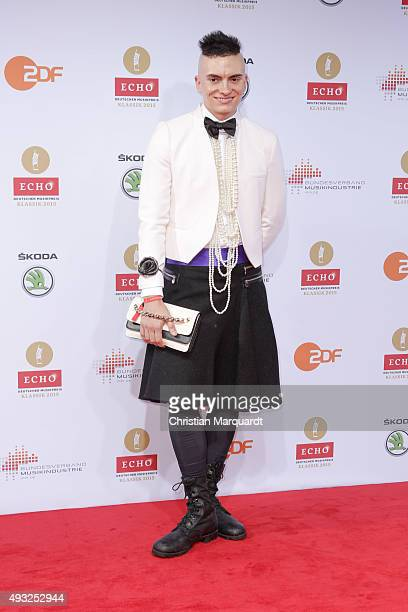 Cameron Carpenter attends the ECHO Klassik 2015 at Konzerthaus on October 18 2015 in Berlin Germany