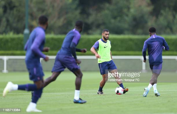 Cameron Carter Vickers of Tottenham Hotspur during the Tottenham Hotspur training session at Tottenham Hotspur Training Centre on August 02 2019 in...