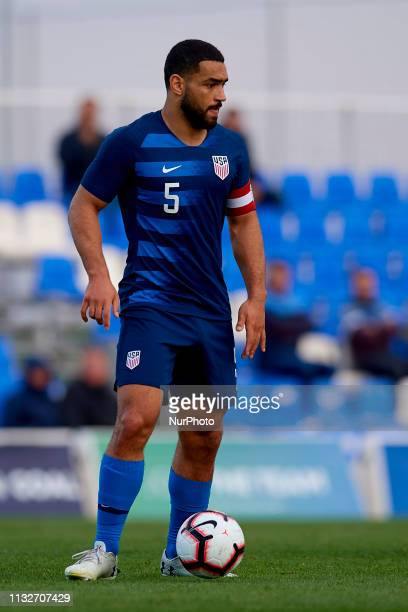 Cameron Carter Vickers of USA controls the ball during the international friendly match between Netherlands U23 and USA U23 at Pinatar Arena on March...