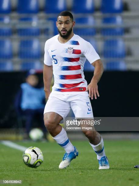 Cameron Carter Vickers of USA during the International Friendly match between Italy v USA at the KRC Genk Arena on November 20 2018 in Genk Belgium