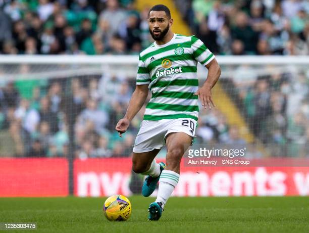 Cameron Carter-Vickers for Celtic during a cinch Premiership match between Celtic and Ross County at Celtic Park on September 11 in Glasgow, Scotland