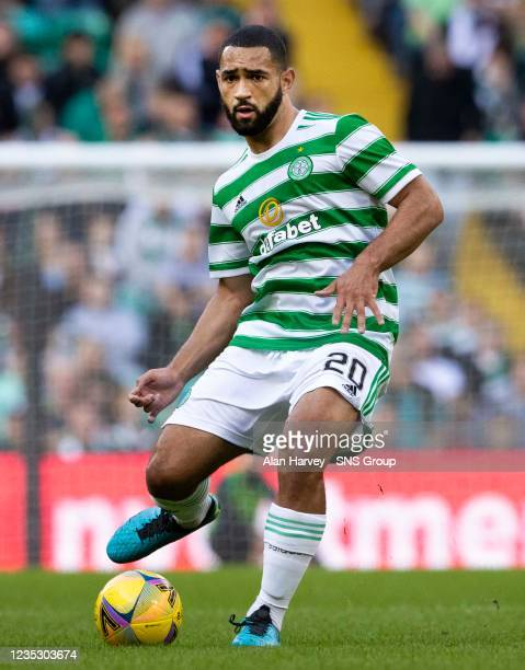 Cameron Carter-Vickers in action for Celtic during a cinch Premiership match between Celtic and Ross County at Celtic Park on September 11 in...