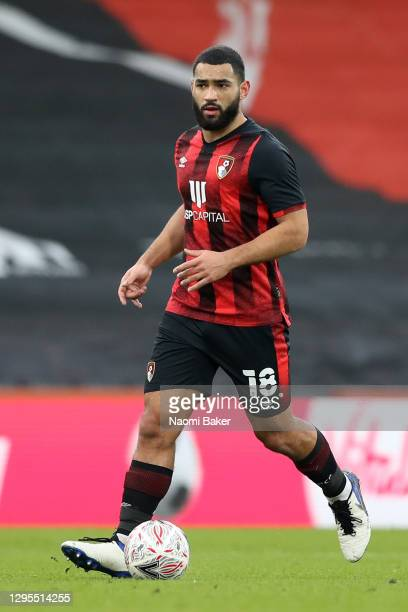 Cameron Carter-Vickers of AFC Bournemouth in action during the FA Cup Third Round match between Oldham Athletic and AFC Bournemouth at Vitality...