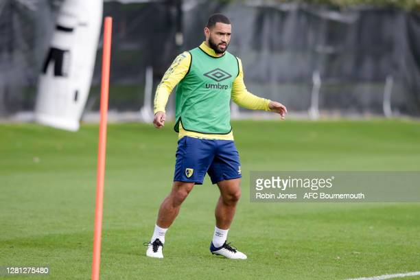 Cameron Carter-Vickers of Bournemouth during a training session at the Vitality Stadium on October 20, 2020 in Bournemouth, England.