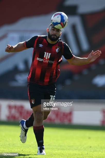 Cameron Carter-Vickers of Bournemouth in action during the Sky Bet Championship match between AFC Bournemouth and Watford at Vitality Stadium on...