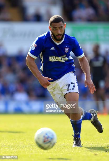 Cameron CarterVickers of Ipswich Town during the Sky Bet Championship match between Ipswich Town and Aston Villa at Portman Road on April 21 2018 in...