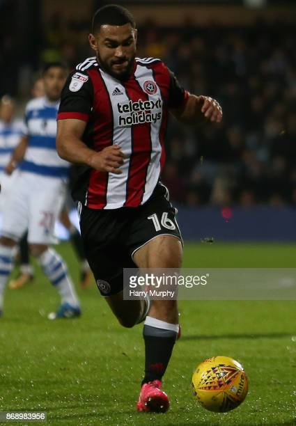 Cameron CarterVickers of Sheffield United in action during the Sky Bet Championship match between Queens Park Rangers and Sheffield United at Loftus...