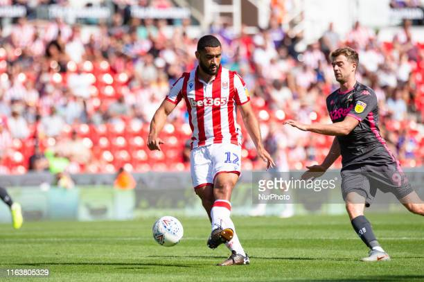 Cameron CarterVickers of Stoke City during the Sky Bet Championship match between Stoke City and Leeds United at the Britannia Stadium StokeonTrent...