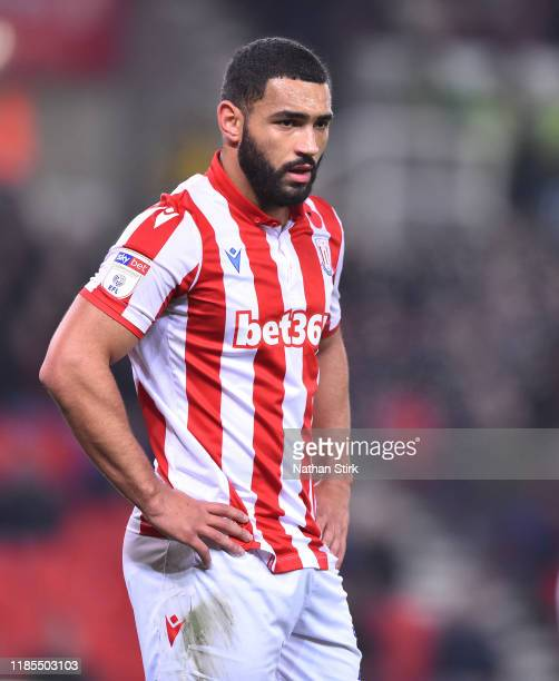 Cameron Carter-Vickers of Stoke City looks on during the Sky Bet Championship match between Stoke City and West Bromwich Albion at Bet365 Stadium on...