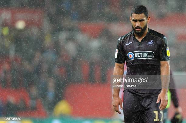 Cameron CarterVickers of Swansea City during the Sky Bet Championship match between Stoke City and Swansea City at the Bet 365 Stadium on September...