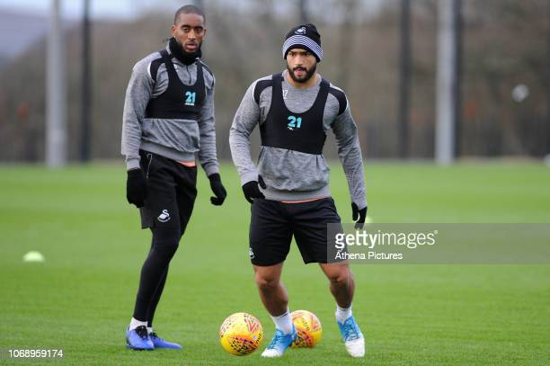 Cameron CarterVickers of Swansea City in action during the Swansea City Training at The Fairwood Training Ground on December 04 2018 in Swansea Wales
