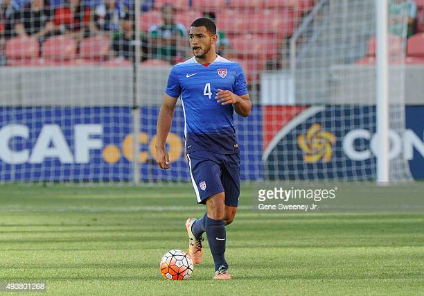 Cameron Carter-Vickers of the United States look on during the third place CONCACAF Olympic Qualifying match against Canada at Rio Tinto Stadium on...