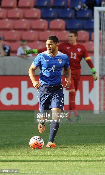 Cameron Carter-Vickers of the United States looks on during the third place CONCACAF Olympic Qualifying match against Canada at Rio Tinto Stadium on...