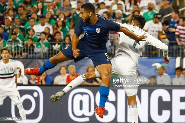 Cameron Carter-Vickers of the USA plays against Mexico in a friendly match at Nissan Stadium on September 11, 2018 in Nashville, Tennessee.