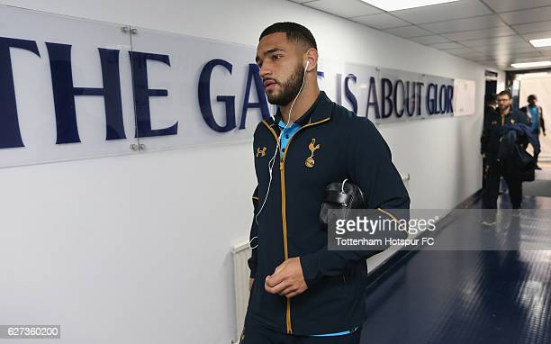 Cameron CarterVickers of Tottenham arrives prior to Premier League match between Tottenham Hotspur and Swansea City at White Hart Lane on December 3...