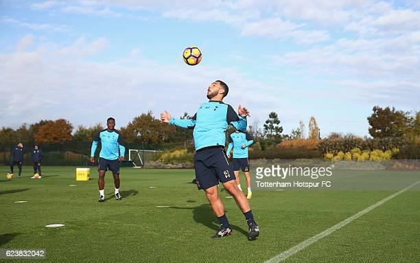 Cameron CarterVickers of Tottenham during the Tottenham Hotspur training session at Tottenham Hotspur Training Centre on November 17 2016 in Enfield...