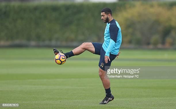 Cameron Carter-Vickers of Tottenham during the Tottenham Hotspur training session at Tottenham Hotspur Training Centre on December 16, 2016 in...