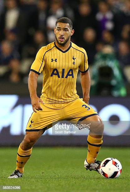 Cameron Carter-Vickers of Tottenham Hotspur controls the ball during the 2016 International Champions Cup match between Juventus FC and Tottenham...