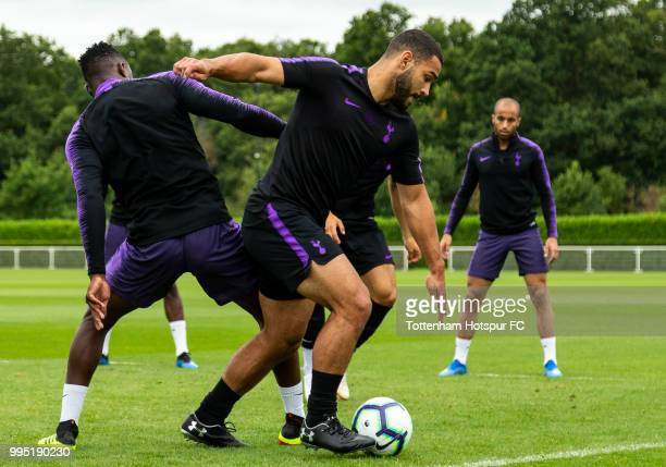 Cameron CarterVickers of Tottenham Hotspur during pre season training at Tottenham Hotspur Training Centre on July 10 2018 in Enfield England