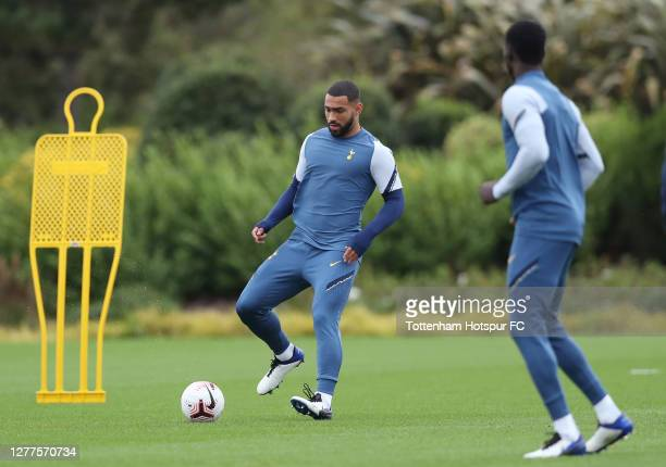 Cameron Carter-Vickers of Tottenham Hotspur during the Tottenham Hotspur training session at Tottenham Hotspur Training Centre on September 30, 2020...