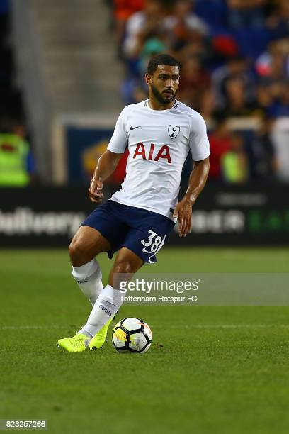 Cameron Carter-Vickers of Tottenham Hotspur in action against Roma during the International Champions Cup 2017 at Red Bull Arena on July 25, 2017 in...