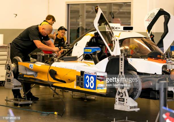 Cameron Cassels CAN Robert Masson USA Kyle Masson USA driver LE MANS PROTOTYPE 2 of Performance Tech Motorsports~ORECA LMP2 07 before the Roar before...