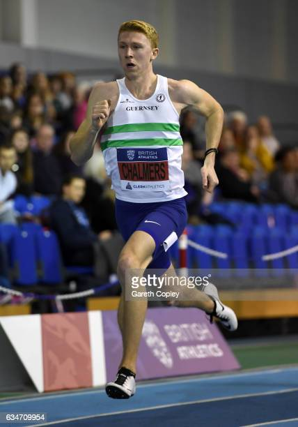 Cameron Chalmers competes in the mens 400 metres during the British Athletics Indoor Team Trials 2017 at English Institute of Sport on February 11...
