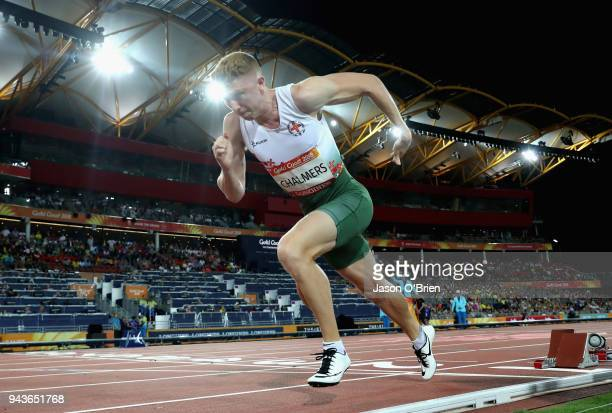 Cameron Chalmers of Guernsey competes in the Men's 400 metres semi finals during the Athletics on day five of the Gold Coast 2018 Commonwealth Games...