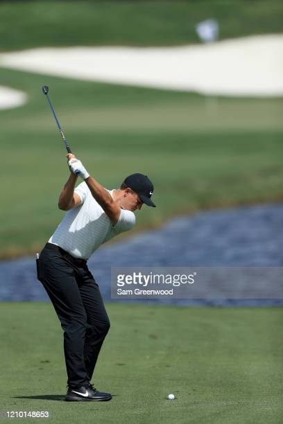 Cameron Champ hits a shot during a practice round prior to the Arnold Palmer Invitational Presented by MasterCard at Bay Hill Club and Lodge on March...