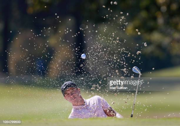 Cameron Champ hits his third shot on the third hole during the third round of the Sanderson Farms Championship at the Country Club of Jackson on...