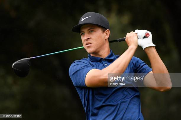 Cameron Champ of the United States plays his shot from the second tee during the final round of the Zozo Championship @ Sherwood on October 25, 2020...
