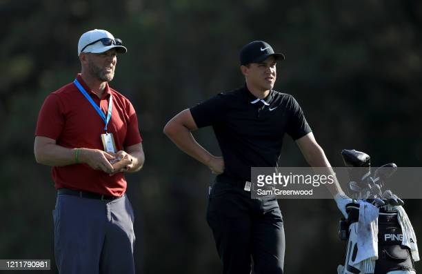 Cameron Champ of the United States waits before playing a shot during a practice round prior to The PLAYERS Championship on The Stadium Course at TPC...