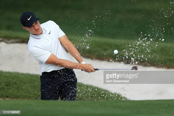 Cameron Champ plays a shot during a practice round prior to the Arnold Palmer Invitational Presented by MasterCard at Bay Hill Club and Lodge on...