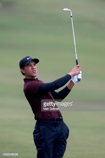 Cameron Champ plays his shot on the first hole during Sanderson Farms Championship Round One on October 25 2018 in Jackson Mississippi