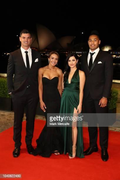 Cameron Ciraldo Kim Ciraldo Jess Blake and Waqa Blake arrive at the 2018 Dally M Awards at Overseas Passenger Terminal on September 26 2018 in Sydney...