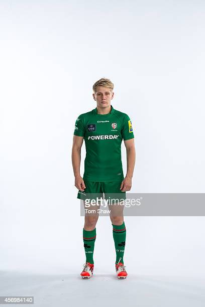 Cameron Cowell of London Irish poses for a picture during the BT PhotoShoot at Sunbury Training Ground on August 27 2014 in Sunbury England