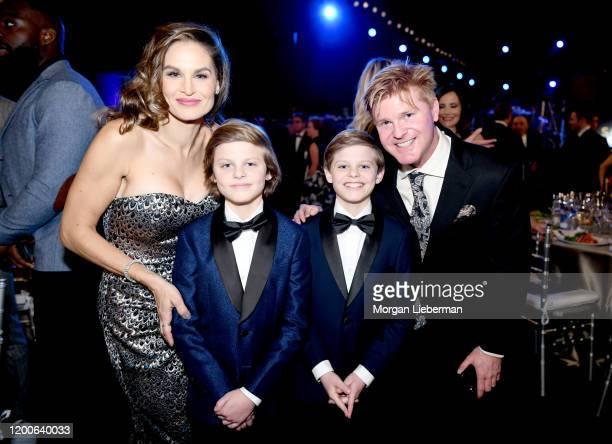 Cameron Crovetti and Nicholas Crovetti attend the 26th Annual Screen ActorsGuild Awards at The Shrine Auditorium on January 19 2020 in Los Angeles...
