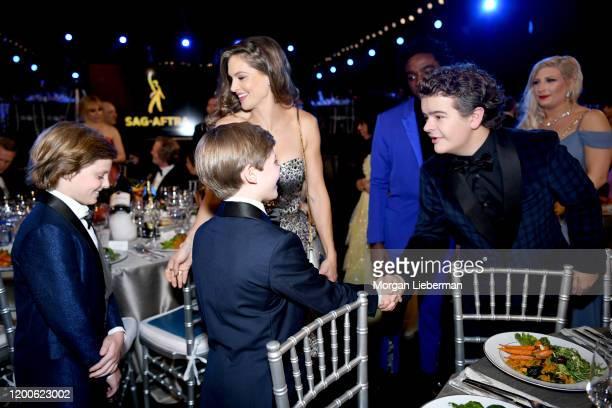 Cameron Crovetti Nicholas Crovetti and Gaten Matarazzo attend the 26th Annual Screen ActorsGuild Awards at The Shrine Auditorium on January 19 2020...