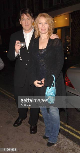 Cameron Crowe and his wife Nancy Wilson during Kirsten Dunst Arrives at J Sheekey's Restaurant in London October 20 2005 at J Sheekey's in London...