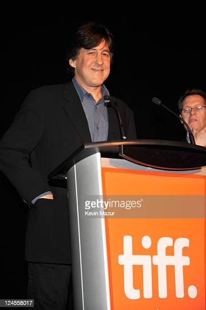 Cameron Crowe speaks at the Pearl Jam Twenty premiere at the Princess of Wales Theatre during the 2011 Toronto International Film Festival on...